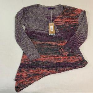 Prana Multicolored Knit Sweater NWT M